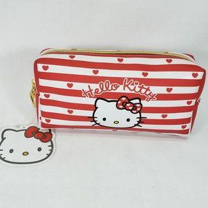 Nwt CUTE! Sanrio Hello Kitty Makeup Cosmetic Case